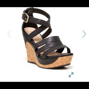 UGG Shoes - UGG Dillion Platform Wedge Sandals in Black